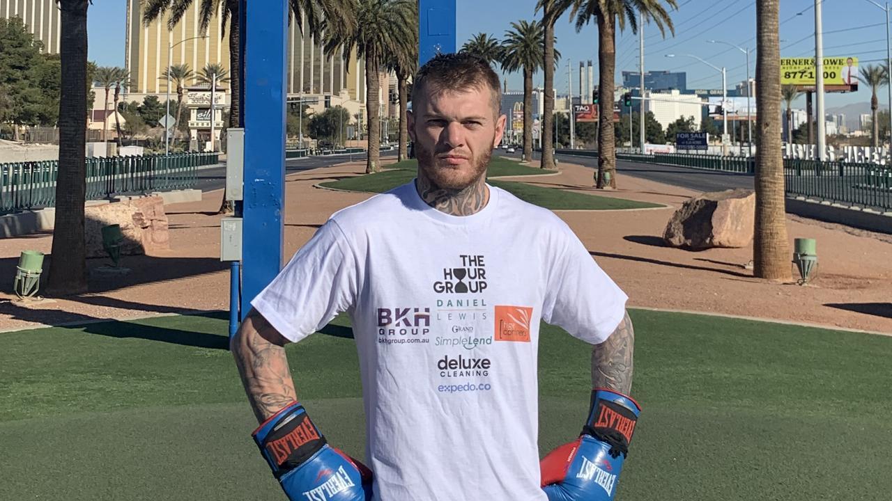 Rising Australian boxer Daniel Lewis in Las Vegas.