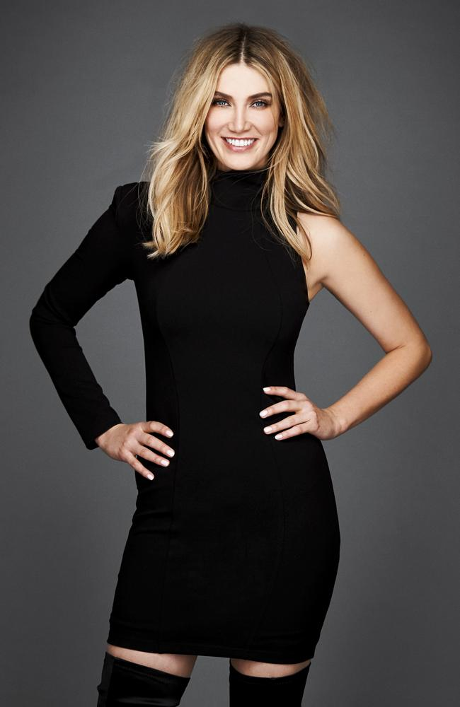 Singer and Voice judge Delta Goodrem.