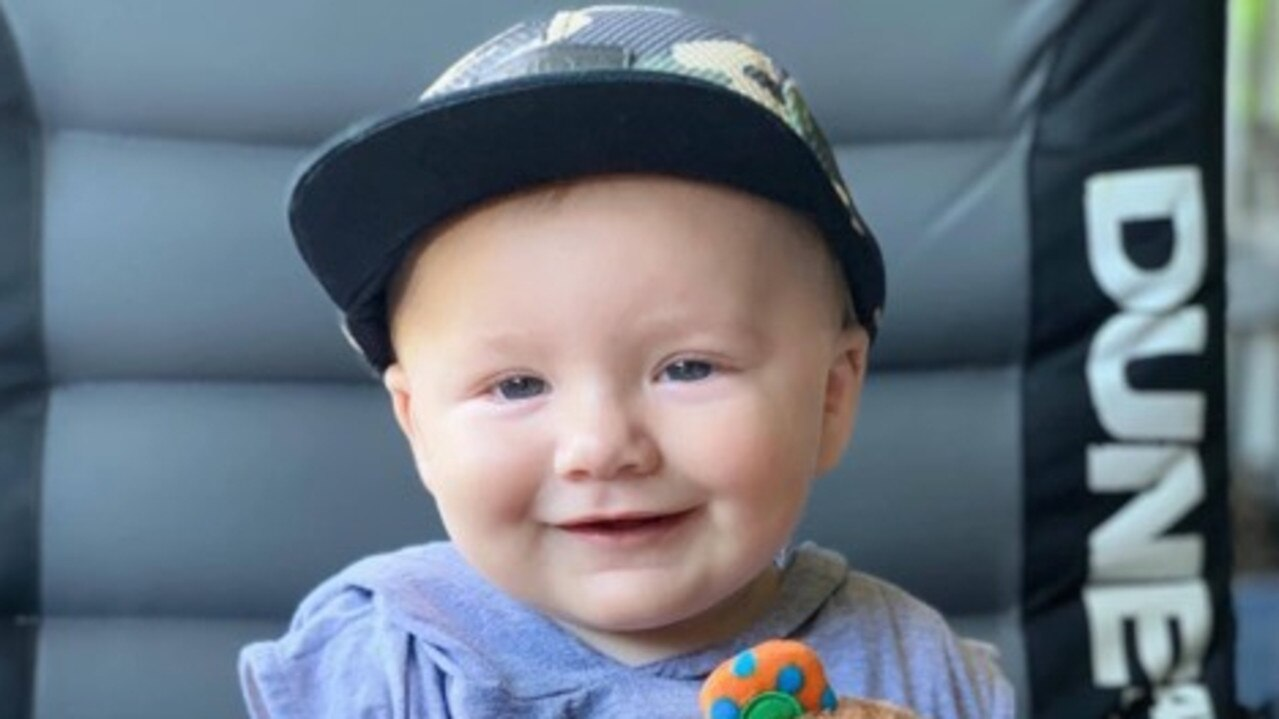 Kaiden France was flown to Townsville Hospital for treatment following a fatal traffic crash that tragically killed his mother Sharon France.
