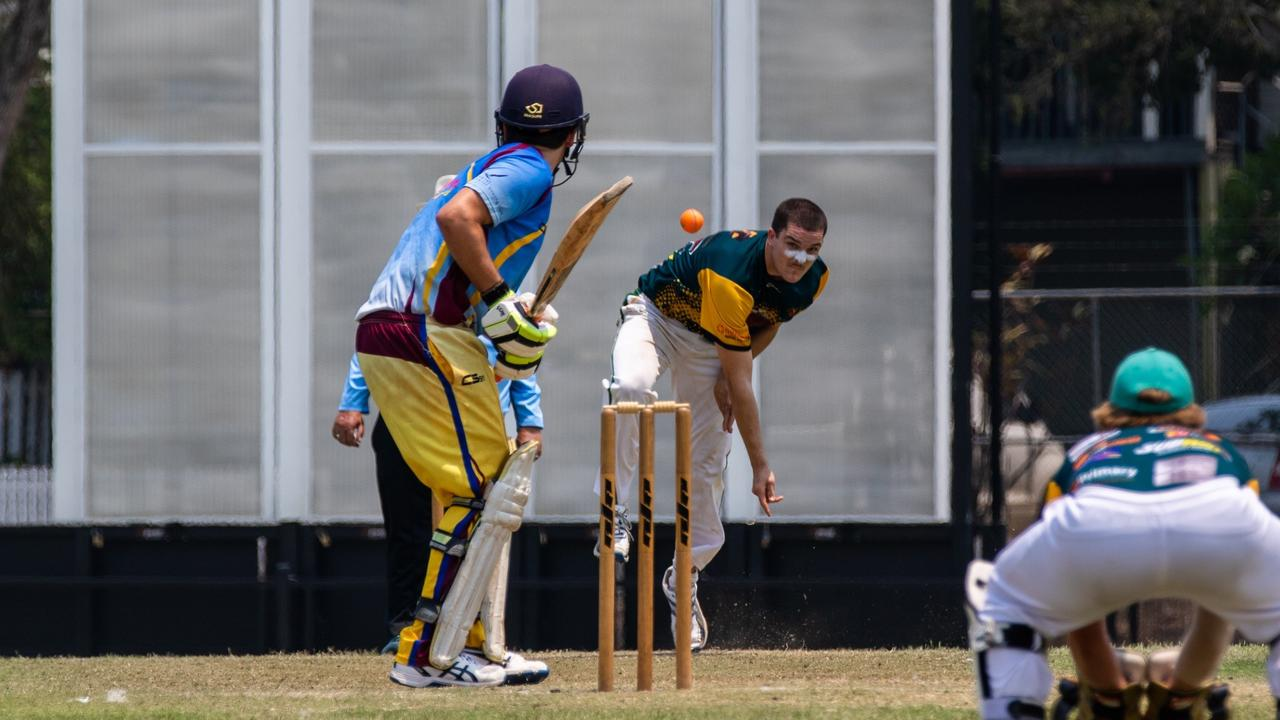 Cudgen fast bowler Tim Spencer took two wickets against Murwillumbah on Saturday. Photo Ursula Bentley@CapturedAus