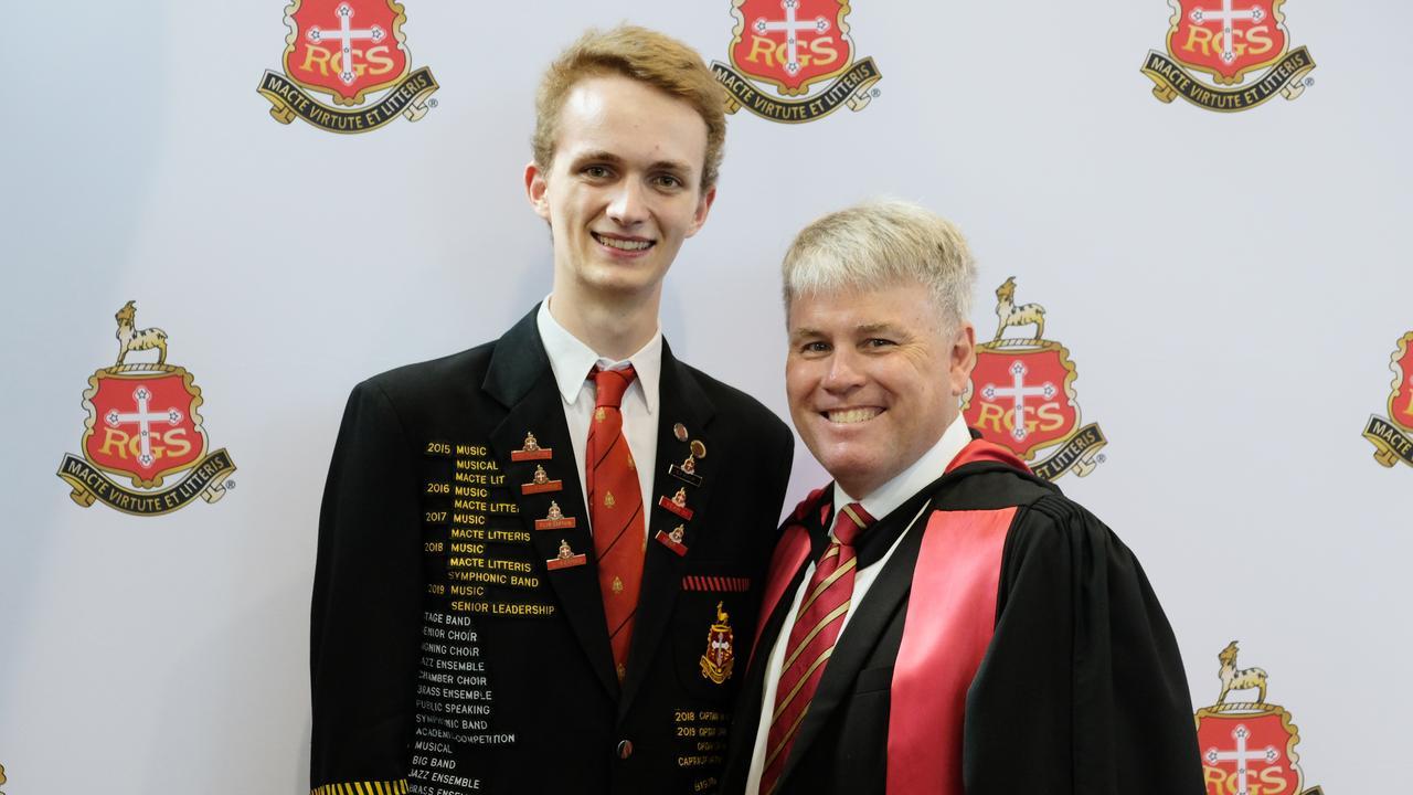 James Vandeleur and The Rockhampton Grammar School Dr Phillip Moulds.