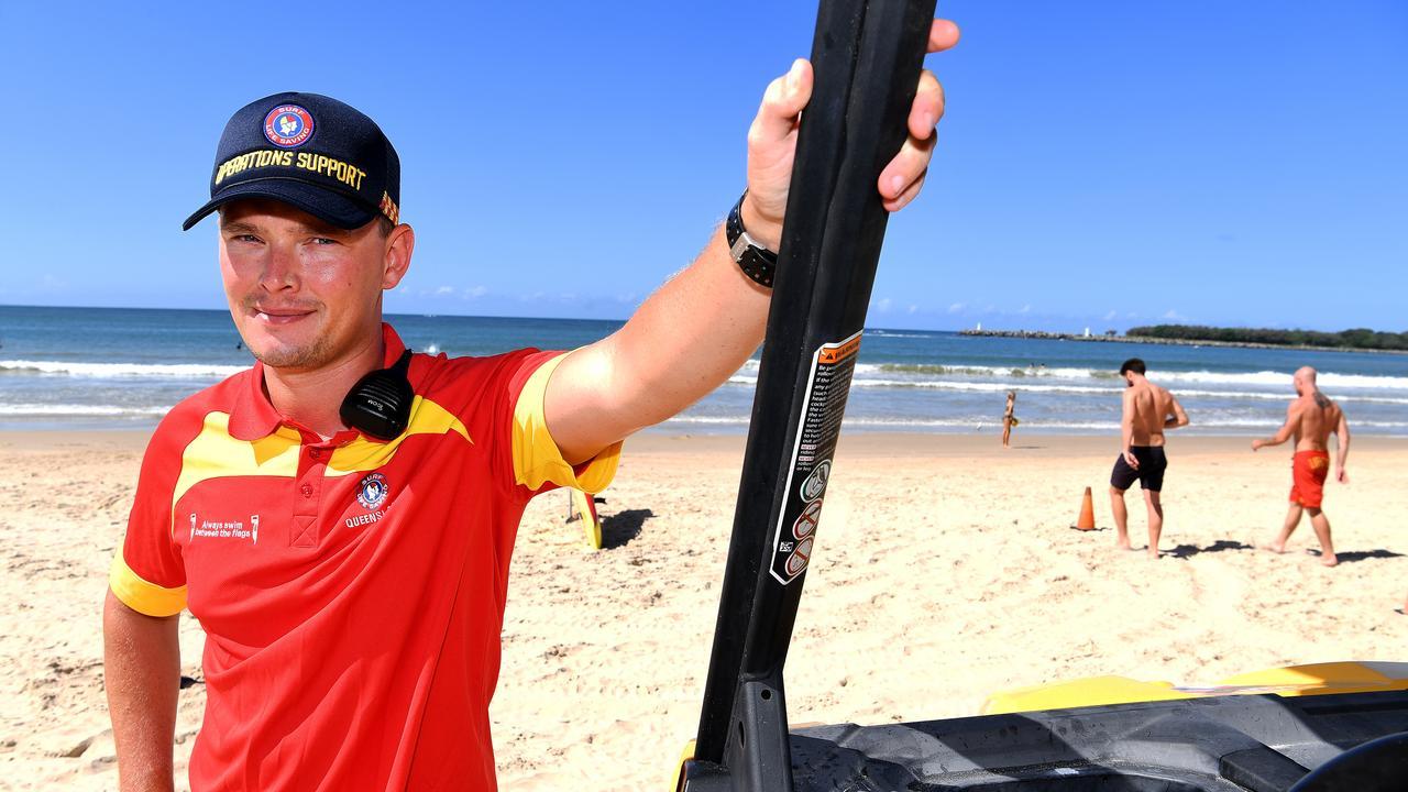 ON DUTY: Sunshine Coast Lifesaver Duty Officer Jacob Thomson. Photo: Warren Lynam