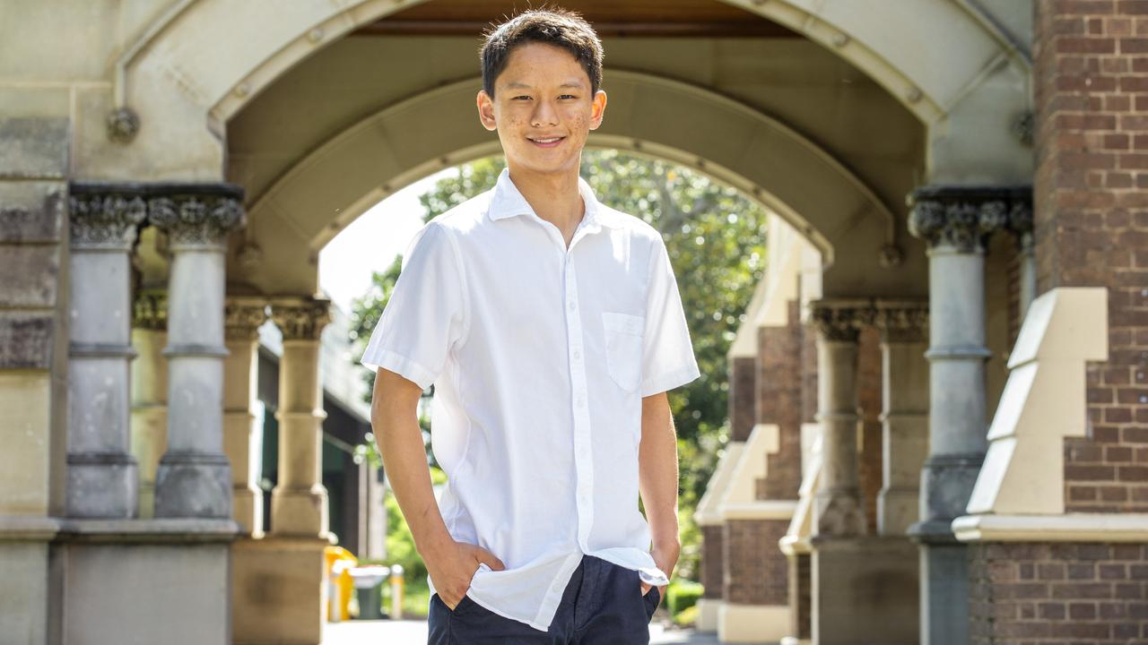 Former Brisbane Grammar School student Jianan Lin has shared his experience of Year 12. Picture: Richard Walker/AAP