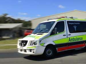 Man hospitalised after car, motorbike collide