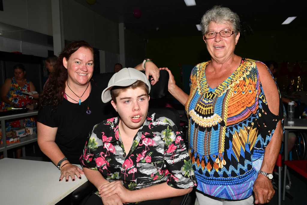 Image for sale: Barb Hill, Nicholas Bennett and Trish Michiels enjoyed the S.N.A.G.S dance. Picture: Tony Martin