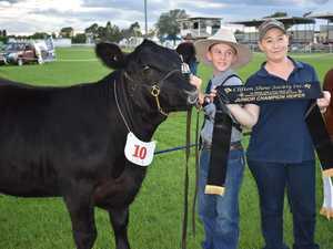 Junior Champion Heifer K5X Janet P71 led by Charlie