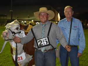Reserve Champion Senior Heifer Kanimbla Nicky led by