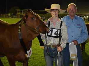 Senior Champion Heifer Rosehill Q81 led by Lauren