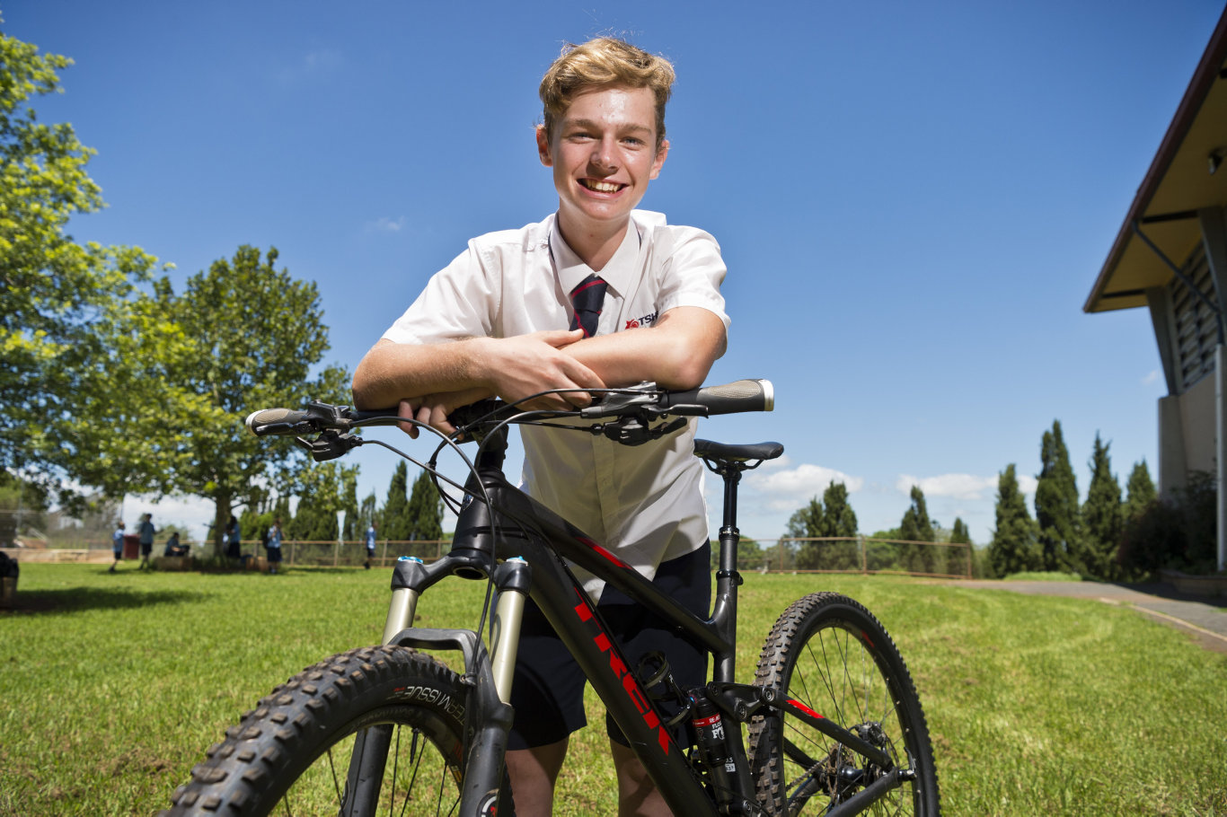 Toowoomba State High School student and champion mountain bike racer George Kirwan is excited that federal funding from the Local Schools Community Fund will be used for a mountain bike program at the school, Monday, February 17, 2020. Picture: Kevin Farmer