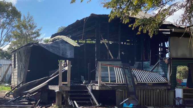 VIDEO: Charred remains of home destroyed in mystery fire