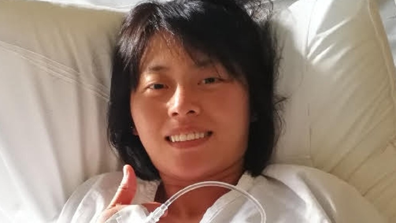 Gold Coast Chinese tourist Yang Chen in hospital Monday.