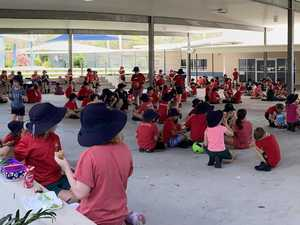 School goes red to support fire-ravaged towns
