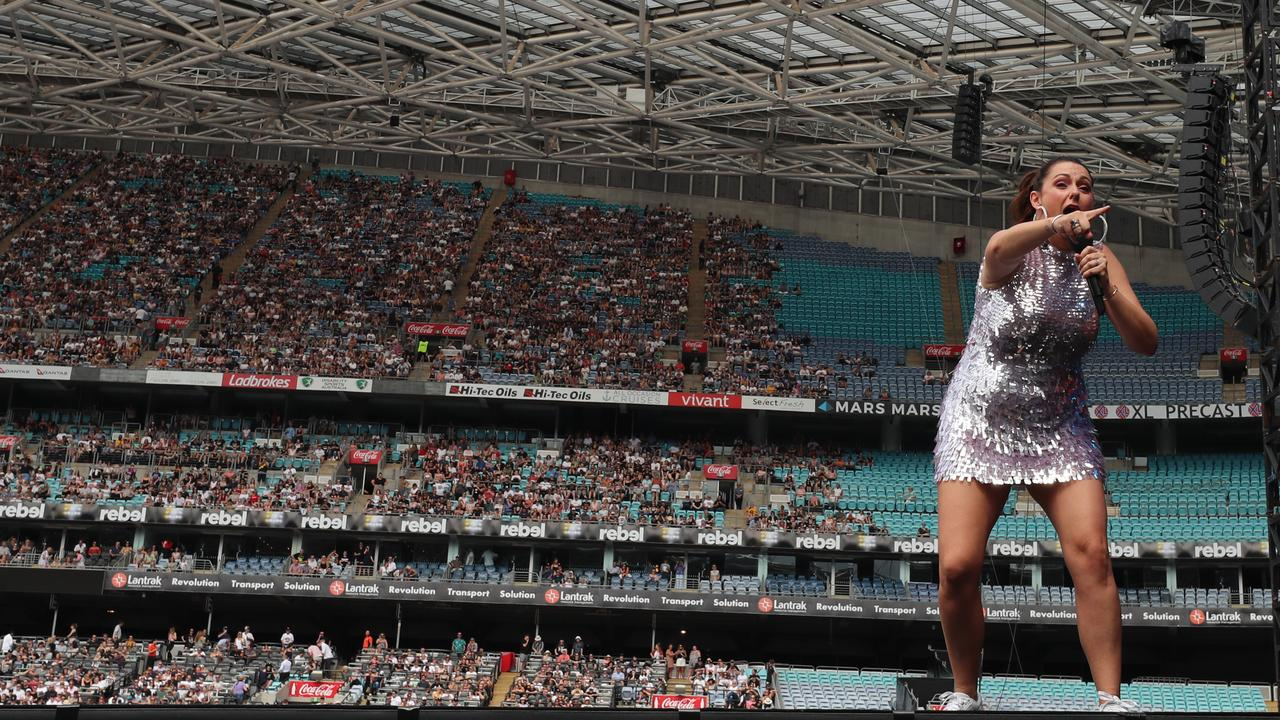 Comedian Celeste Barber has been criticised unfairly for her hosting of the 10-hour Fire Fight Australia concert. Picture: Cole Bennetts/Getty Images