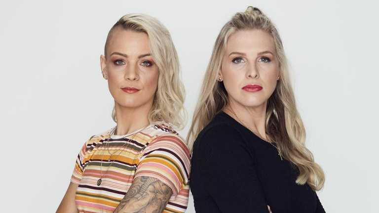 FIRED UP: Sisters Kerry Hall and Kaylene McNee got caught up in tonight's drama on My Kitchen Rules: The Rivals.