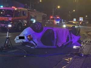 Driver 'ran red light': Man killed in rolling car