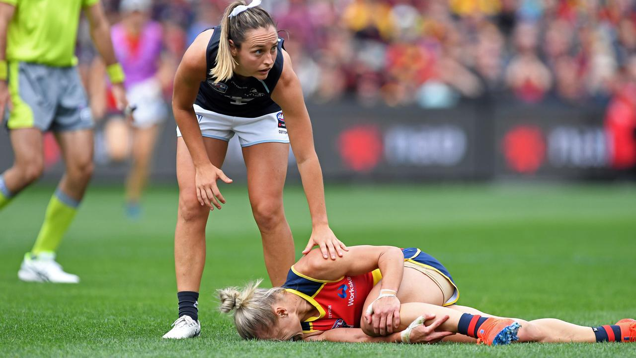 AFLW superstar Erin Phillips did her ACL in last year's grand final. Picture: Tom Huntley