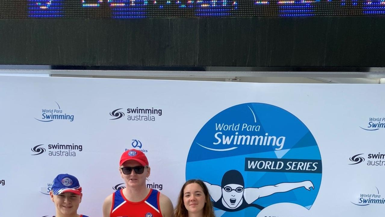 WORLD SERIES: Three of the Lismore Workers Swim Team , Ben Auckram, 15, Aidan Yourell, 20, and McKinley Arnison, 14, took on some of the top international aquatic athletes at the Para Swimming World Series 2020 on the weekend.