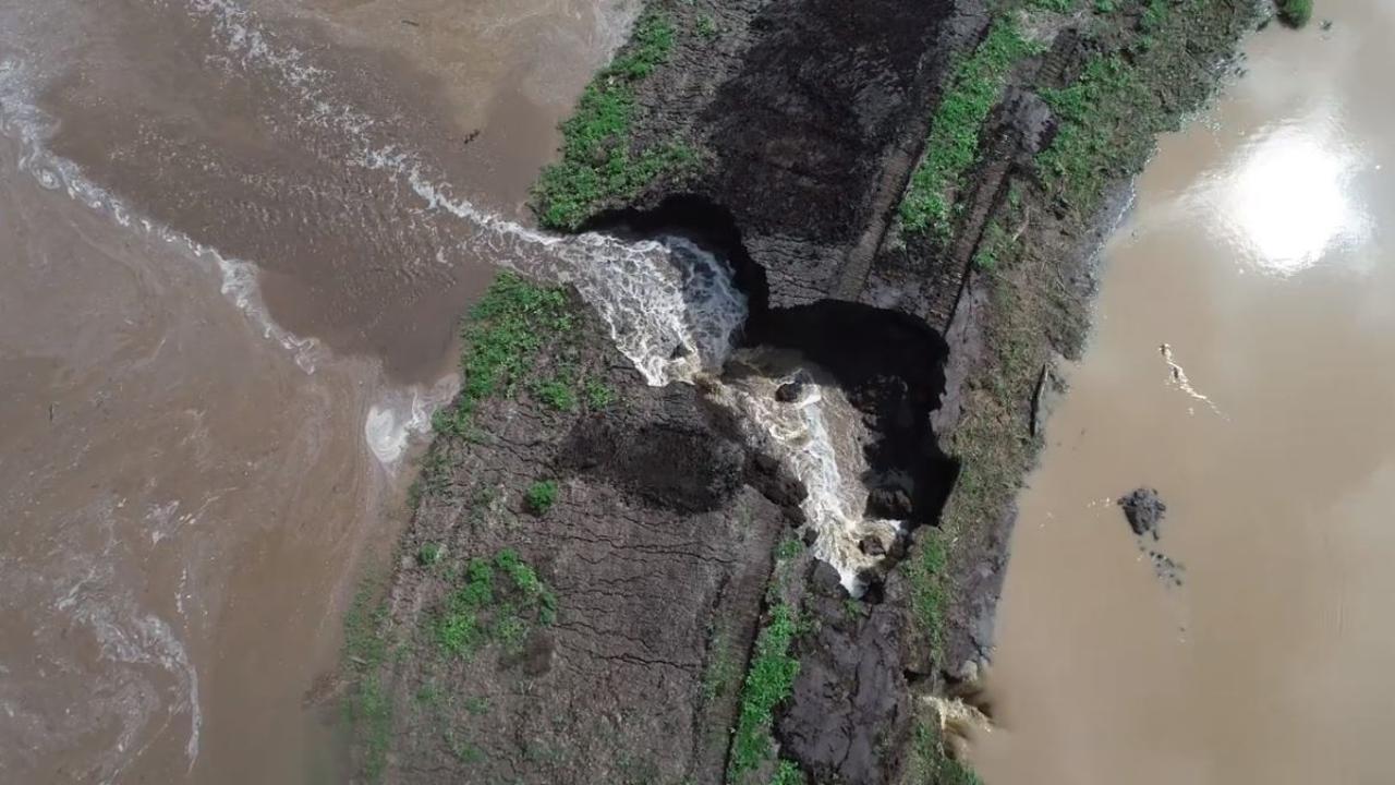 Bolzan Quarry dam drone footage Talgai water