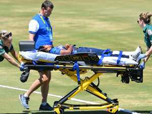 Cricket star hospitalised, game called off