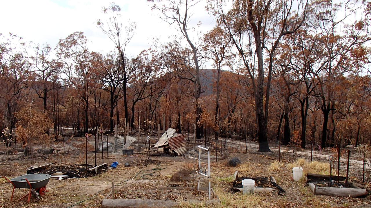 Tony Headford's property after the Lowmead fires 2019
