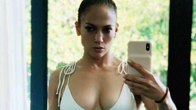 JLo's jaw-dropping bikini selfie