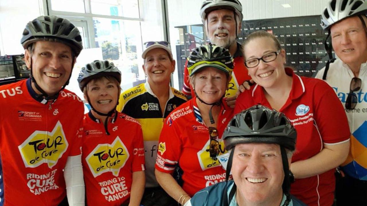 CANCER RESEARCH: Team Biloela Tour De Cure cycling team and support crew will circumnavigate Biloela and the surrounds, aiming to raise thousands of dollars for cancer research.