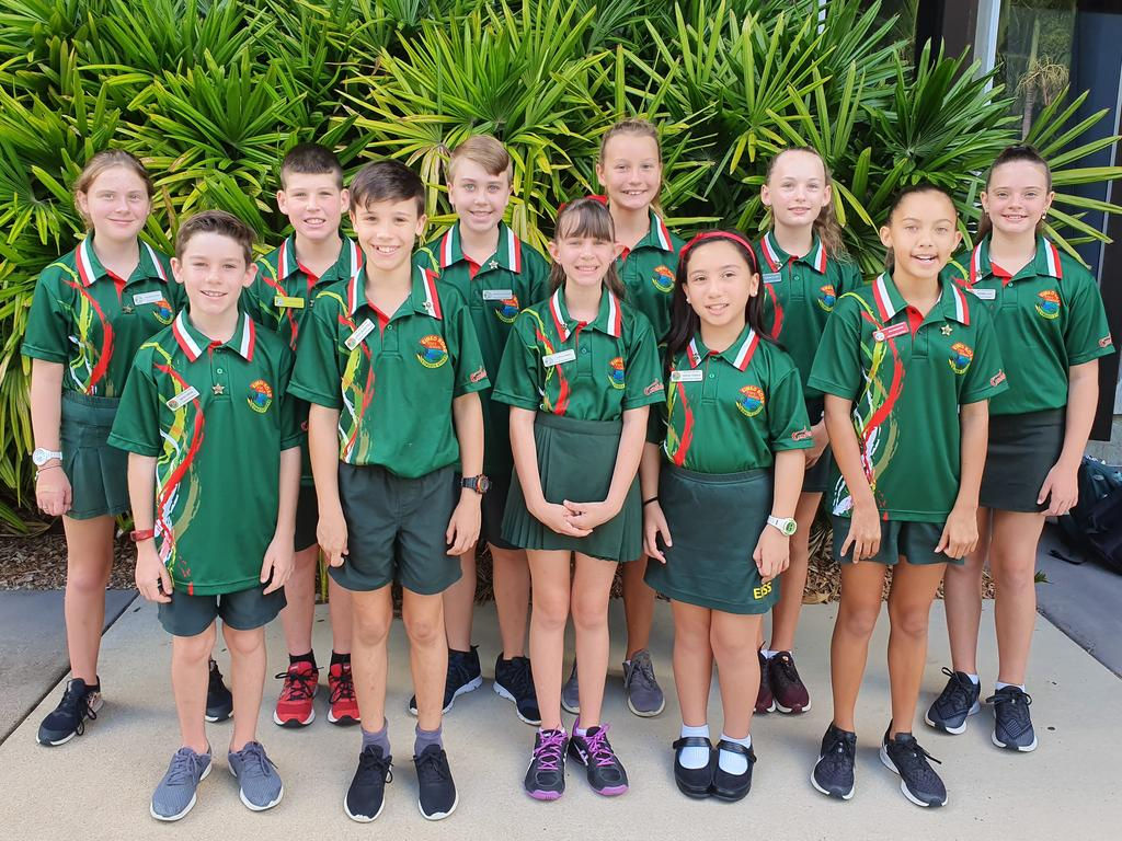 Eimeo Road State School had 11 students attend the group leadership conference on Thursday at the Mackay Entertainment and Convention Centre. Back row (from left): Lillian A, Nate R, Harper H, Emilia S, Aleeah C, Sophie L. Front row (from left): Riley D, Aiden M, Layla Z, Reziel T, Eva D. Picture: Contributed