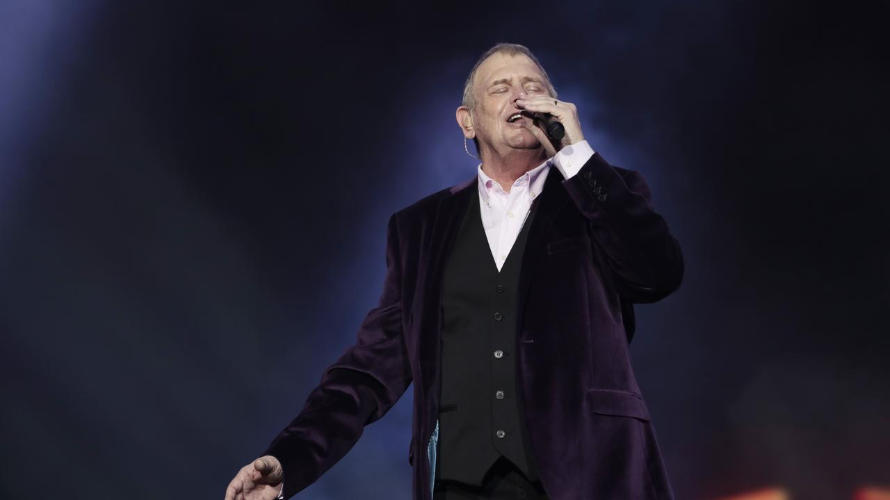 John Farnham performs.