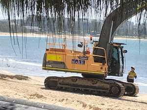 Mudslinger: Pumping puts iconic beach in black