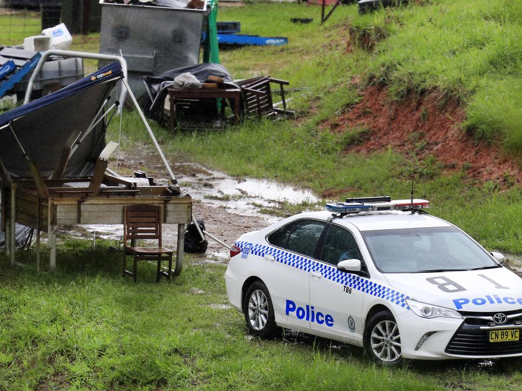 Tweed-Byron police have set up a crime scene at a Cudgera Creek property. Photo: Scott Powick