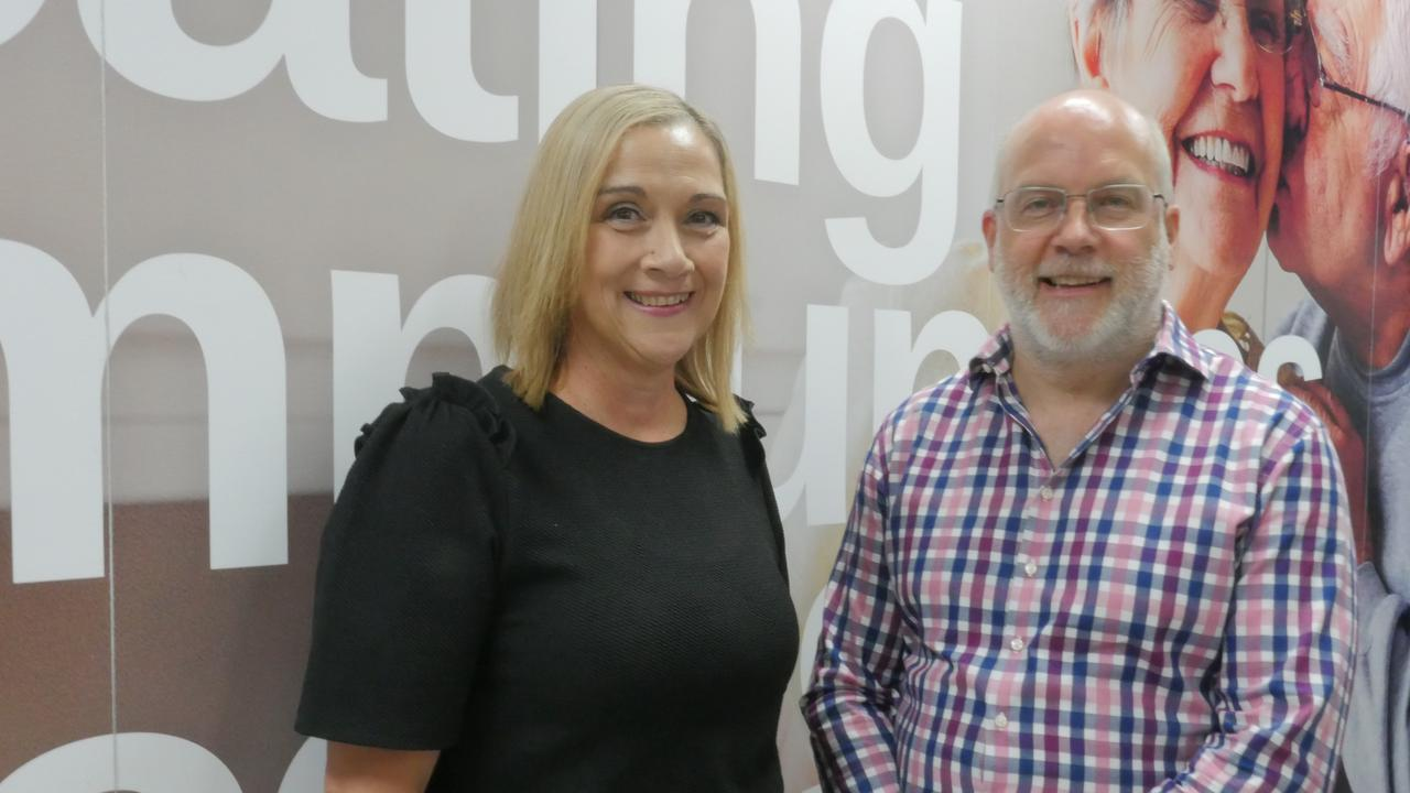 HOME: Sundale CEO Danielle Mackenzie and finance manager Mike Hogarth in Sundale's new office.