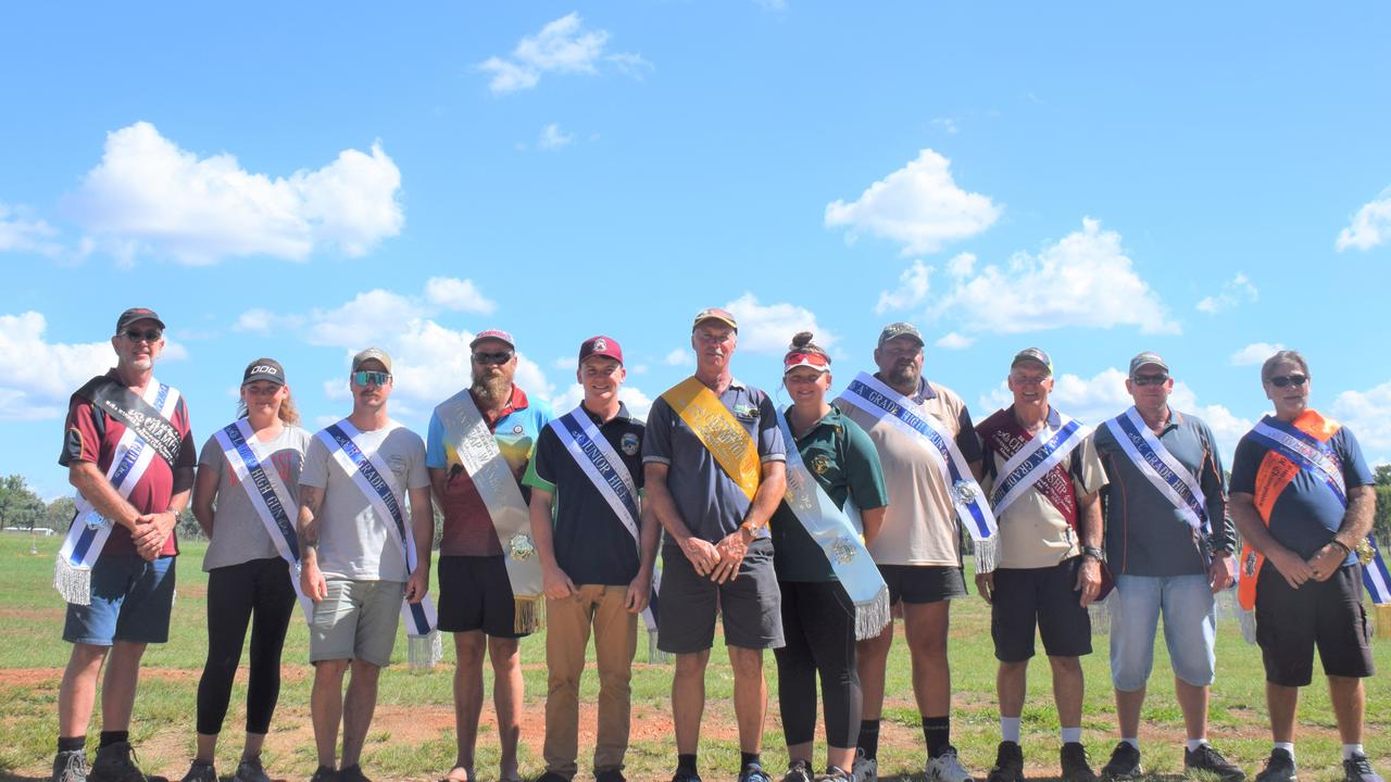 WINNERS CIRCLE: The event winners at the Kingaroy Clay Target Club's annual two day shoot. (Picture: Tristan Evert)