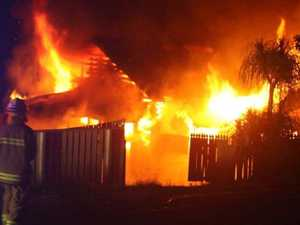 VIDEO: Gympie house destroyed in fiery blaze
