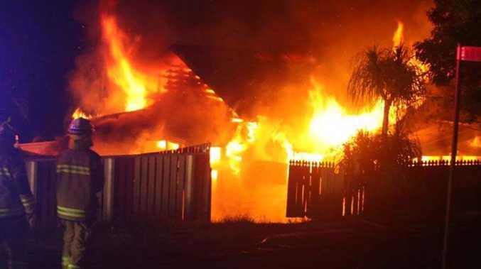 VIDEO: Gympie house destroyed in fiery blaze
