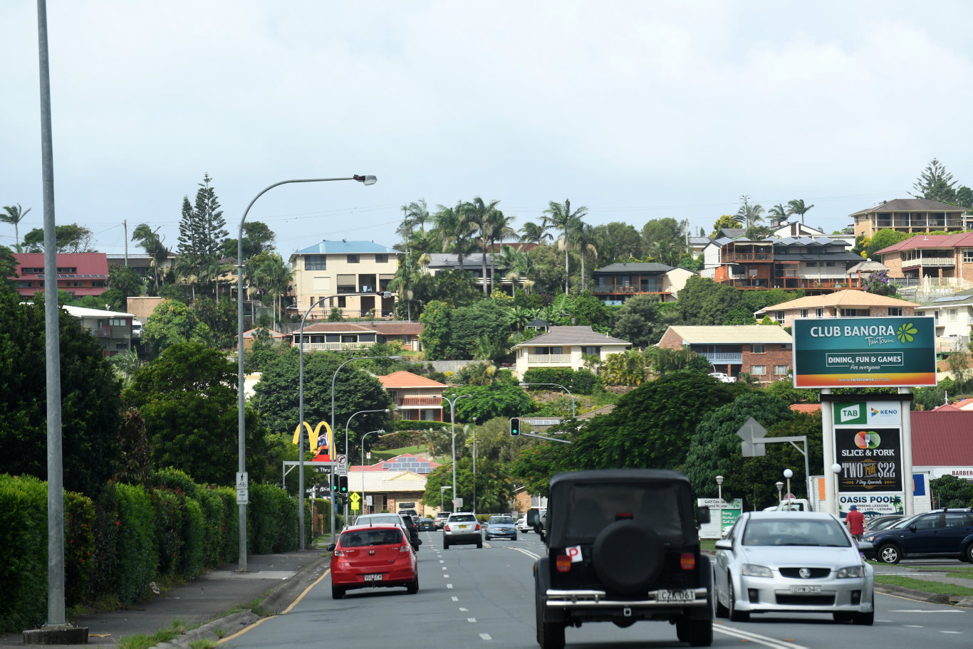 General view of housing in the suburb of Banora Point.