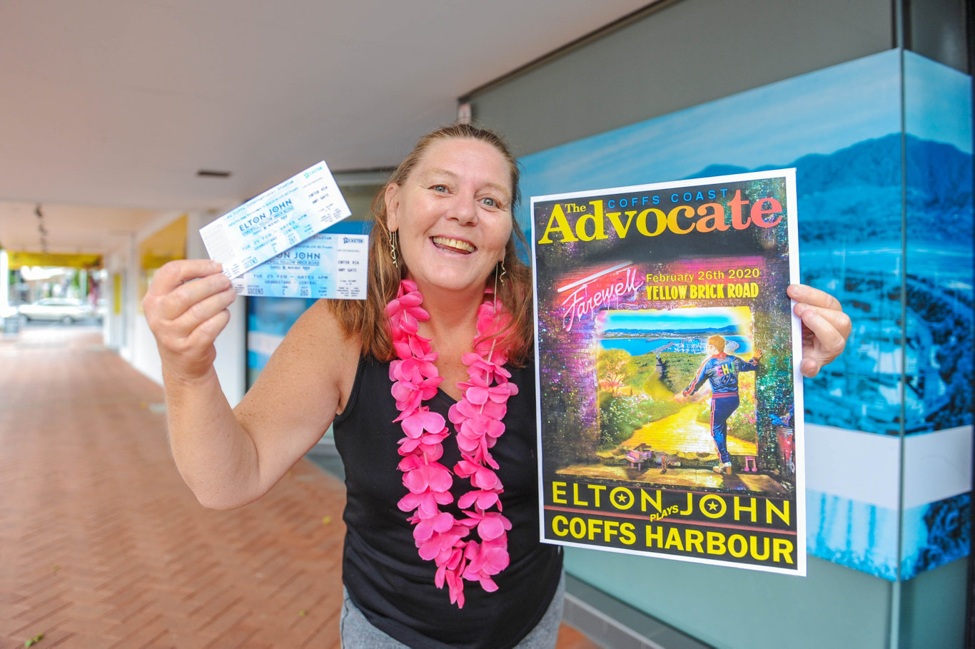 Sonya Baxter is the lucky winner of the Coffs Coast Advocate's Elton John ticket giveaway.
