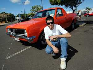 OLD SCHOOL: Byron Holt with his HT Holden ute at the