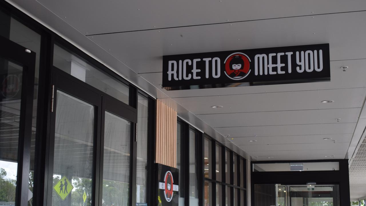 New store at Gladstone Stockland Rice To Meet You is expected to open at the end of this month.