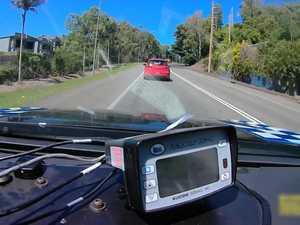 Police dashcam footage captures close call