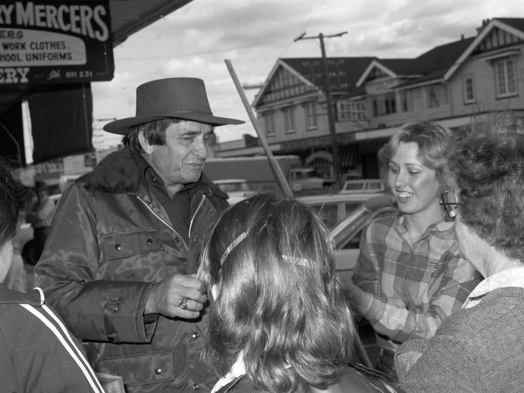 BACK IN BLACK: Johnny Cash in Stanthorpe's main street.