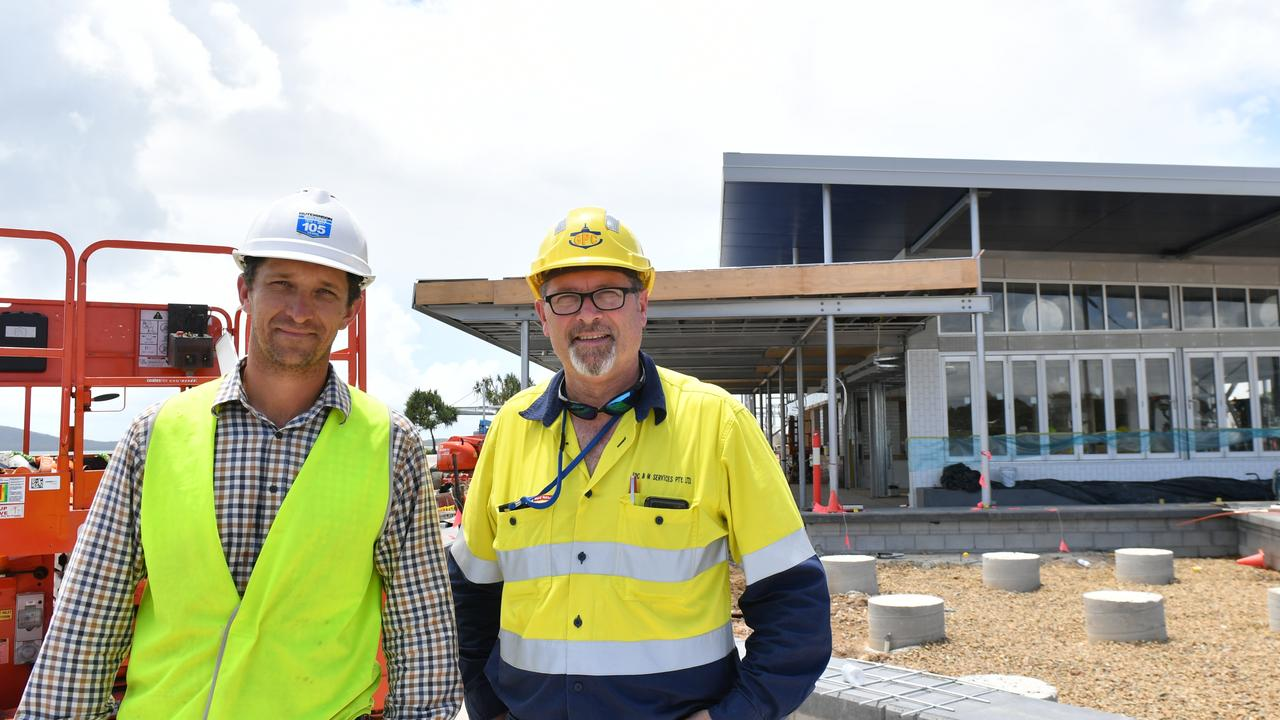 Hutchinson Builders Project Manager Nick Colthup and GPC Project and Construction Manager Duncan Howard.