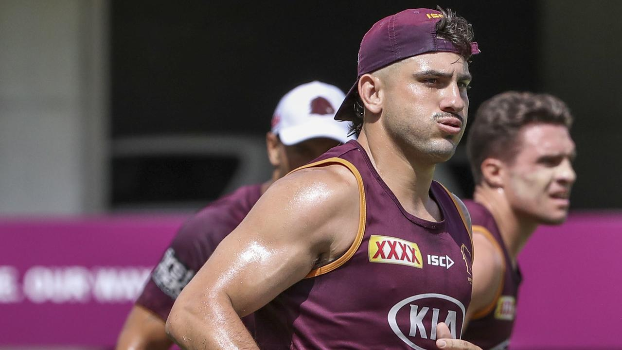 Brisbane Broncos player Jack Bird in action during a team training session in Brisbane, Thursday, January 30, 2020. (AAP Image/Glenn Hunt) NO ARCHIVING