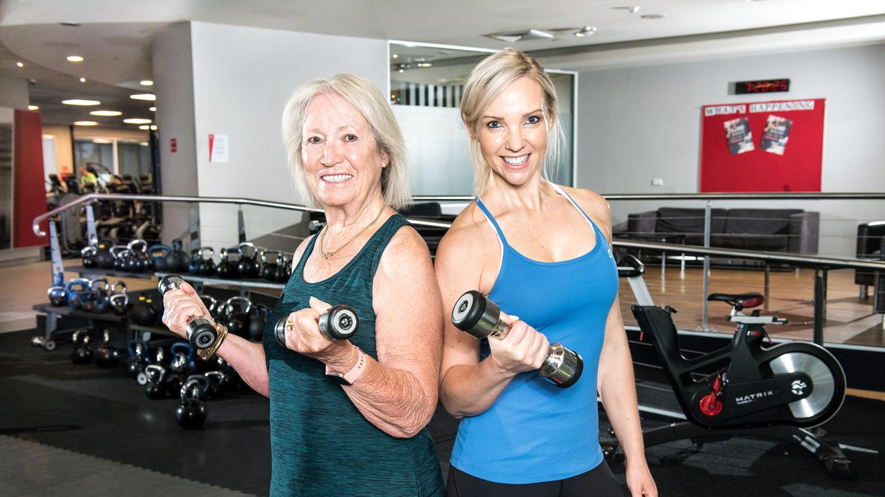 Exercise physiologist Chantal Brodrick with senior client Jo Hill.