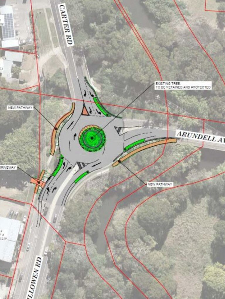 WORKS: The Arundell Ave roundabout was upgrades, ahead of planned road widening, depending on future rail upgrades.