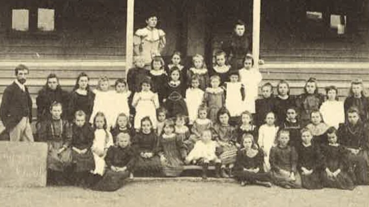 Staff and pupils in the 1890s.
