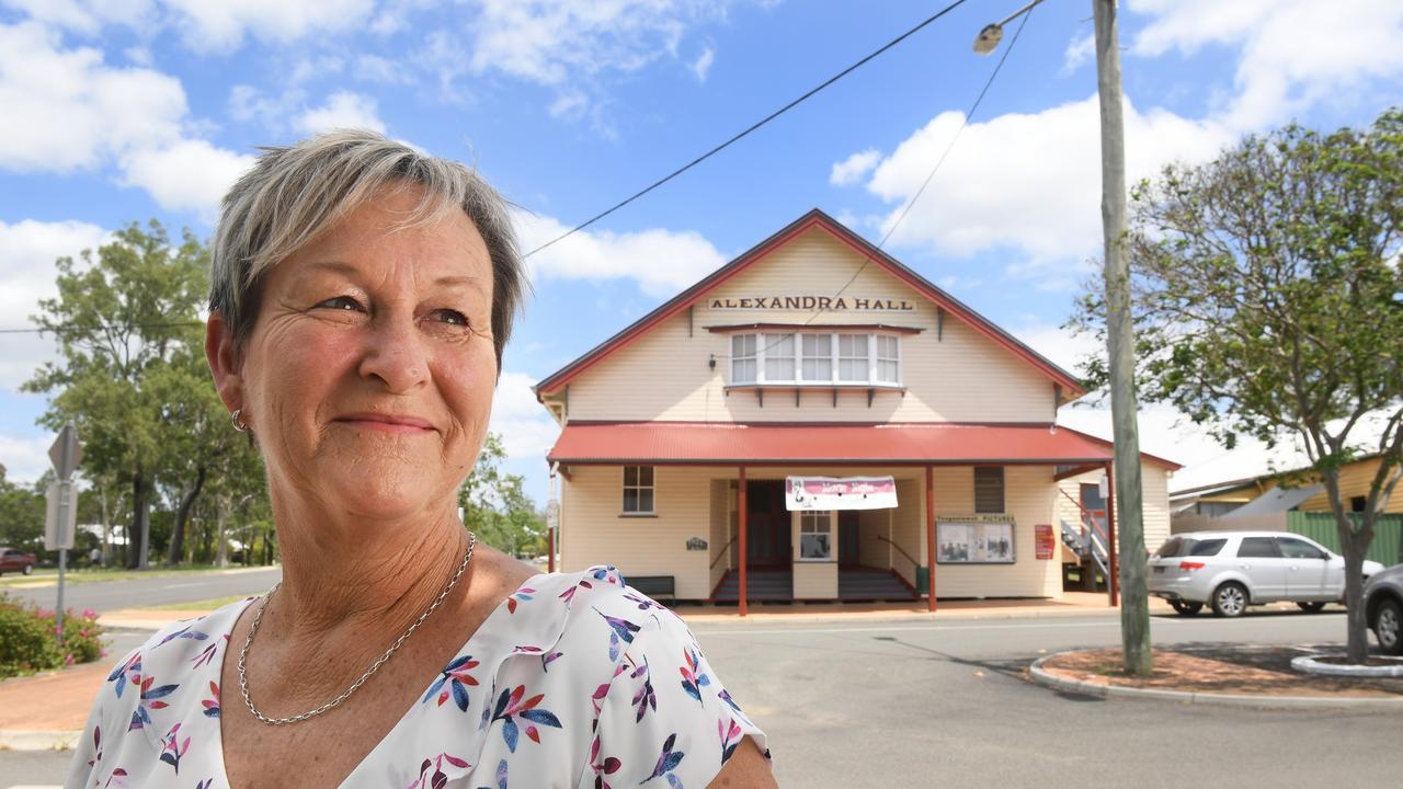 Toogawah & District Progress association secretary Helen Brieschke in front of Alexandra Hall.