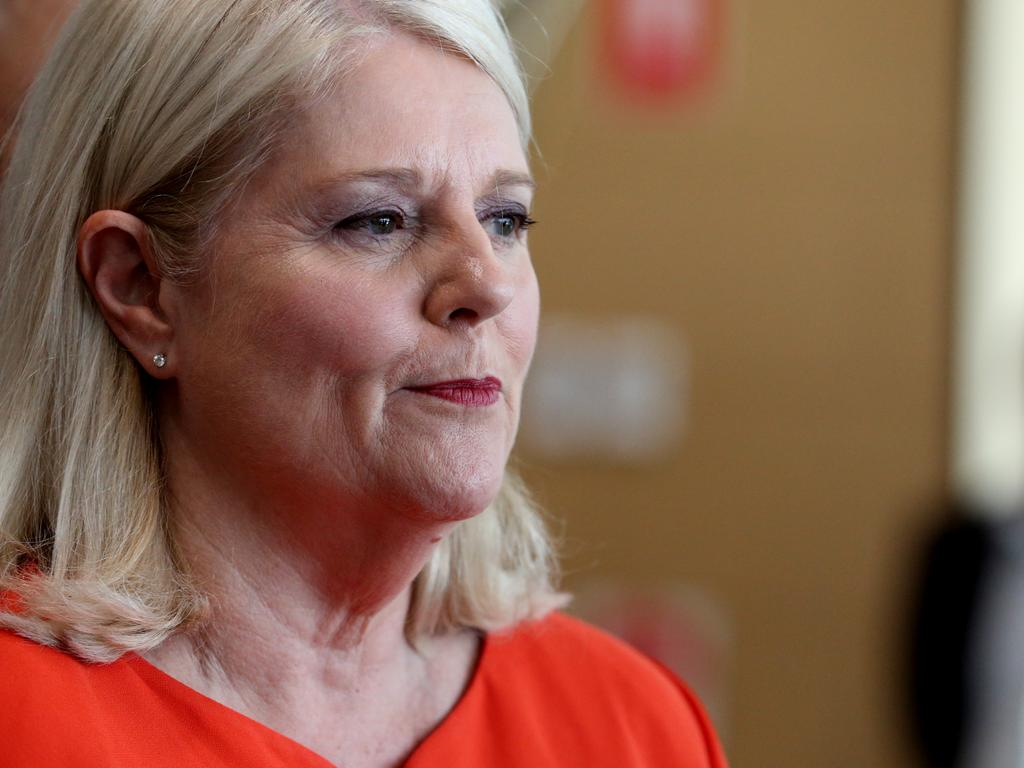 "Federal Minister for Industry, Science and Technology, Karen Andrews said she was disappointed Holden was ""walking away"". Picture: AAP"