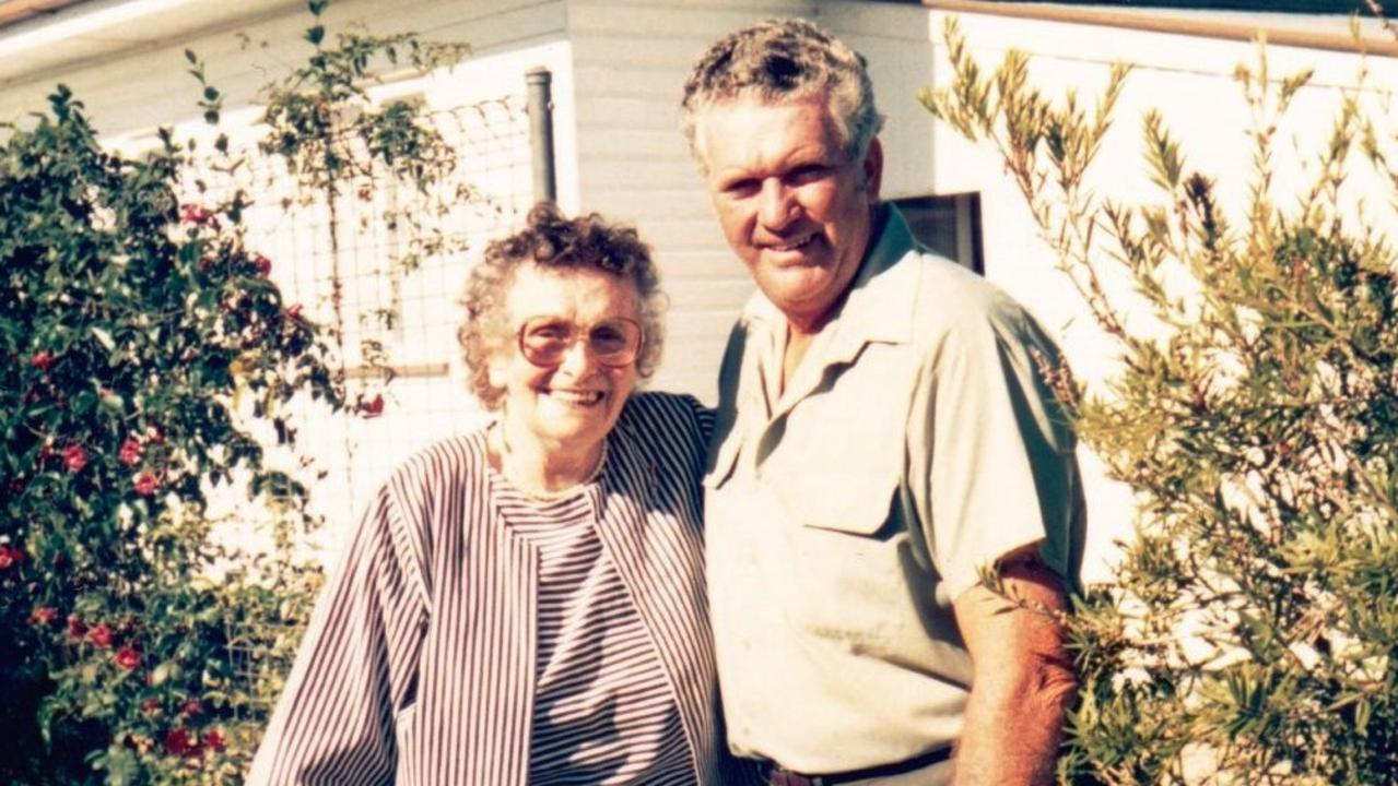 Catherine and Ron Walsh at Ron's home in Bundaberg in 1994. It would be Catherine's last visit to Bundaberg.