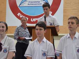 Student leaders recognised and staff member honoured