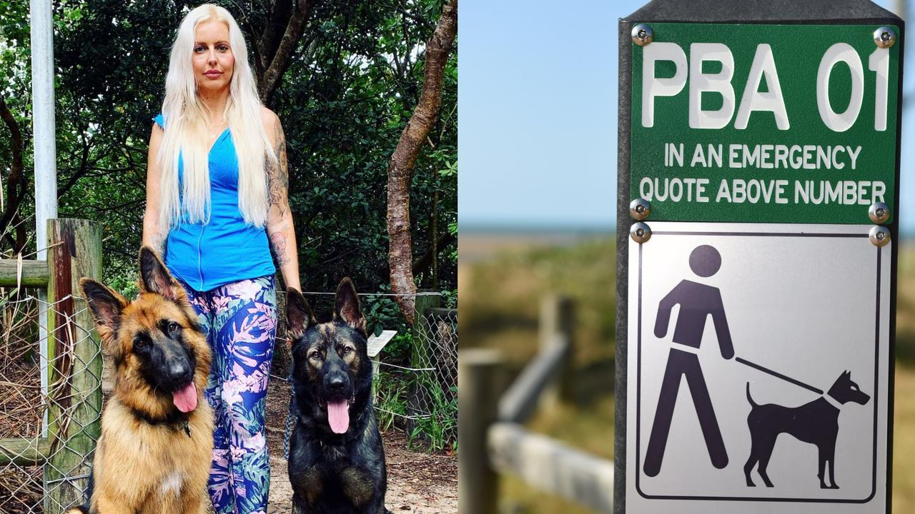 INCREASED ATTACKS: Casuarina local Emma Hartwig is fed up with pet owners walking their unrestrained dogs in leash-only areas.